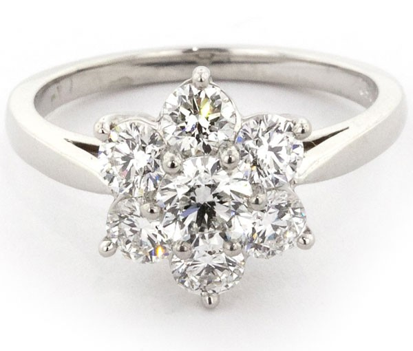 Spring is in the air. Choose a flower ring with diamonds - Boston Diamond Studio